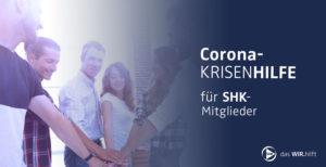 Corona Krisenhilfe für SHK Mitgliede