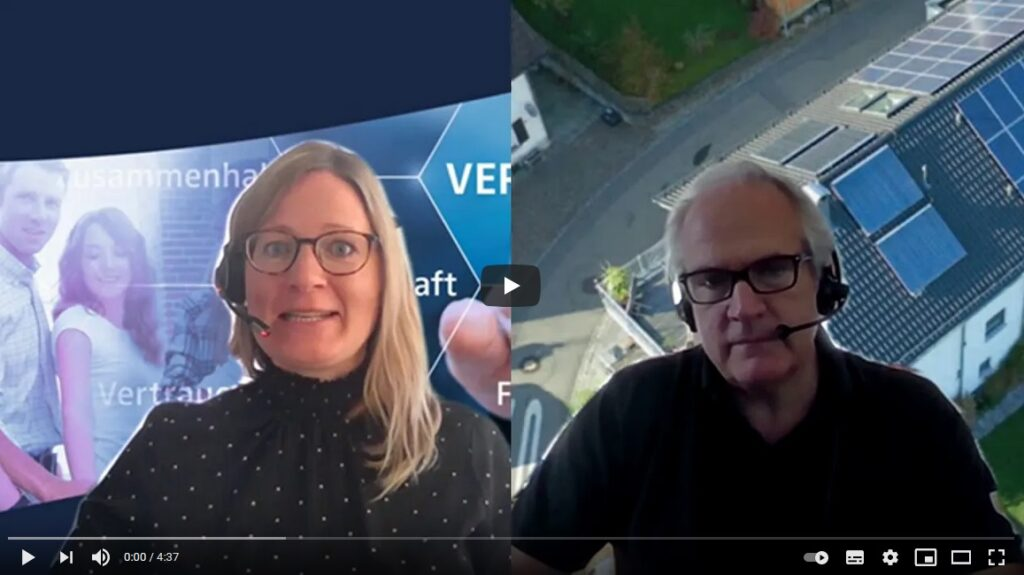 Christina im Interview mit Wendelin Heinzelmann